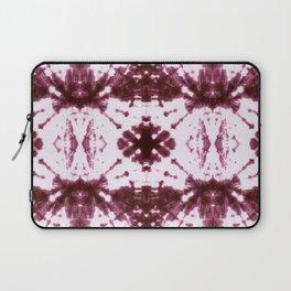 Ikat Stripe Shibori Burgundy Laptop Sleeve