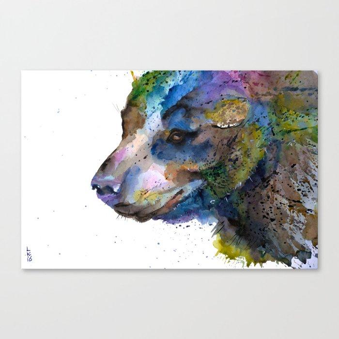 the bear Canvas Print