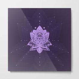 Gentle Pastel Violet Lotus Flower Metal Print