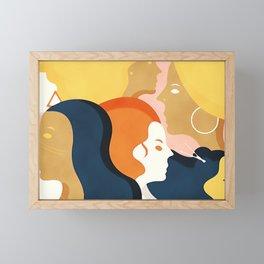Global #Girlpower - we persist Framed Mini Art Print