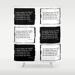Life Lesson No. IV Shower Curtain