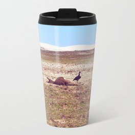 Vultures on Donkey Travel Mug