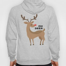 Oh Dear Rudolph Red Nosed Reindeer Funny Design Hoody