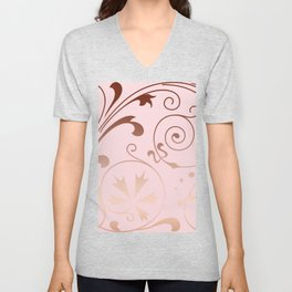 Rose Quartz Gold Komingo Unisex V-Neck
