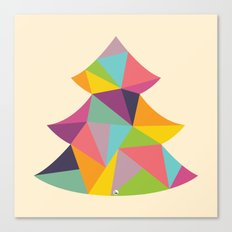 Colourful Christmas Tree Canvas Print