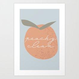 Peachy Clean Blue Art Print