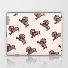 Dog Pattern 2 on Girly Pink Laptop & iPad Skin