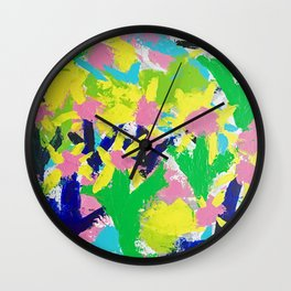 Impressionistic Daisies in the Garden Wall Clock