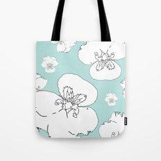 Green Pansies Tote Bag