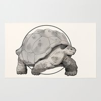 tortoise Area & Throw Rugs featuring Tortoise by Twentyfive