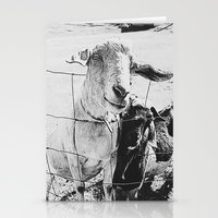 goat Stationery Cards featuring Goat by Leah Flores