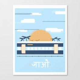 India Rail Canvas Print