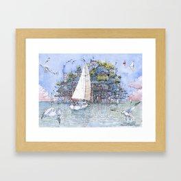 La Citta' sul mare Framed Art Print