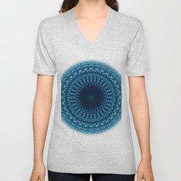 Mandala of Quantum Abundance (blue) Unisex V-Neck