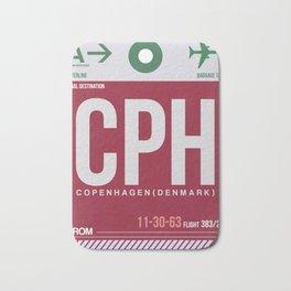 CPH Copenhagen Luggage Tag 2 Bath Mat