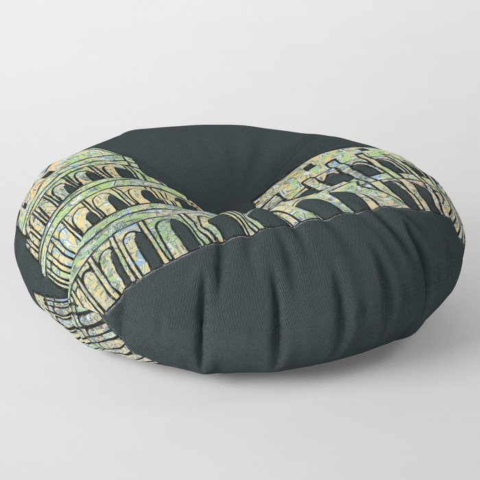 Colosseum Collage Floor Pillow