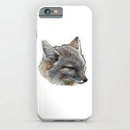 baby fox grey iPhone Case