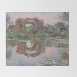 FLOWERING ARCHES IN GIVERNY - MONET  Throw Blanket