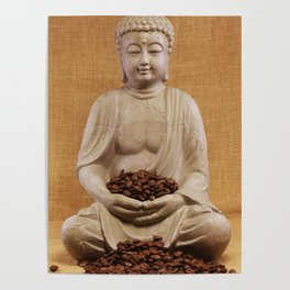 Coffee beans Buddha Poster
