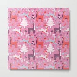 Christmas Deers Metal Print