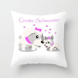 Kinder Große Schwester Geschenkidee Katze Kätzchen  Throw Pillow
