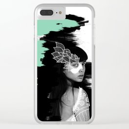 Wild woman Clear iPhone Case