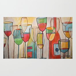 Abstract Modern Wine Art / Wine Tasting Rug