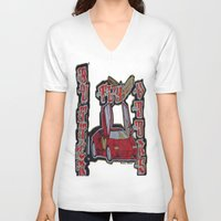 doors V-neck T-shirts featuring Butterfly Doors by The Headlinez Collection™