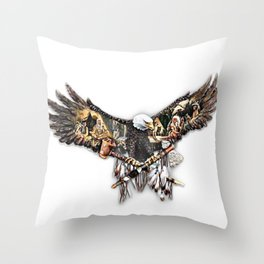 An Eagle Watching over Throw Pillow