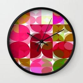 Crape Myrtle Abstract Circles 3 Wall Clock