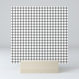 Black and White Grid Graph Mini Art Print