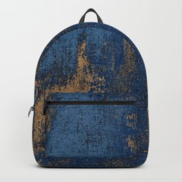 NAVY BLUE AND GOLD PATTERN Backpack