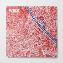 Vienna, Austria street map Metal Print
