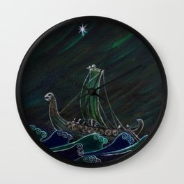 Starlight Voyagers Wall Clock