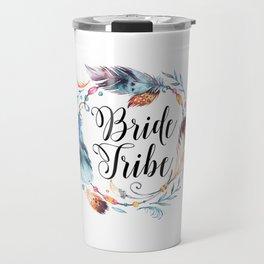 Bride Tribe Boho Feathers Travel Mug
