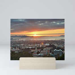 View of San Francisco Bay Area at Sunset from UC Berkeley Mini Art Print