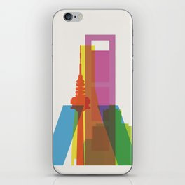 Shapes of Madrid. Accurate to scale. iPhone Skin