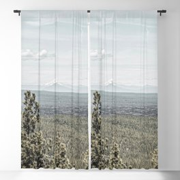 True Grain // Gritty Desaturated Detail of the Oregon Coast Mountains and Woods Blackout Curtain