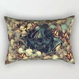 The skull, the flowers and the Snail Warm Rectangular Pillow