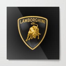 Lamborghini Logo Metal Print