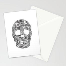 Zentangle Skull (Normal) Stationery Cards