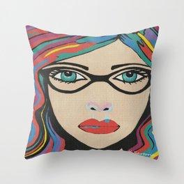 Scarlett - Contemporary Woman Art Throw Pillow