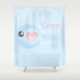 Moon Heart Shower Curtain