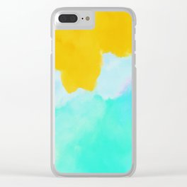 Summer color mood Clear iPhone Case