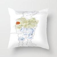 kakashi Throw Pillows featuring Kakashi Hatake by March Hunger