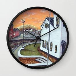Cardiff Bay Sunset Wall Clock
