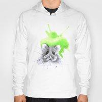 hamster Hoodies featuring green hamster by Konstantina Louka