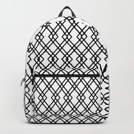 Garden Gate in Balck and White Backpack