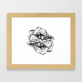 Em Blem Framed Art Print