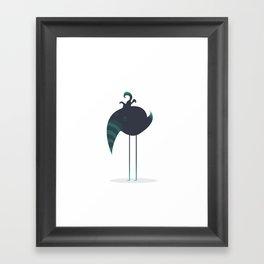 Melancholic Bird Framed Art Print